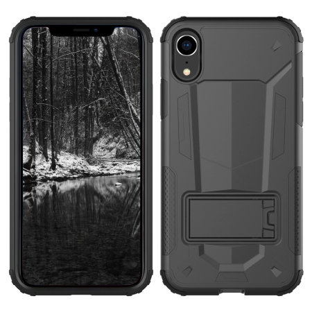 zizo zv hybrid transformer series iphone xr case - black