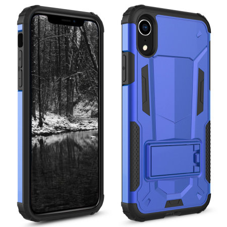 zizo zv hybrid transformer series iphone xr case - blue / black