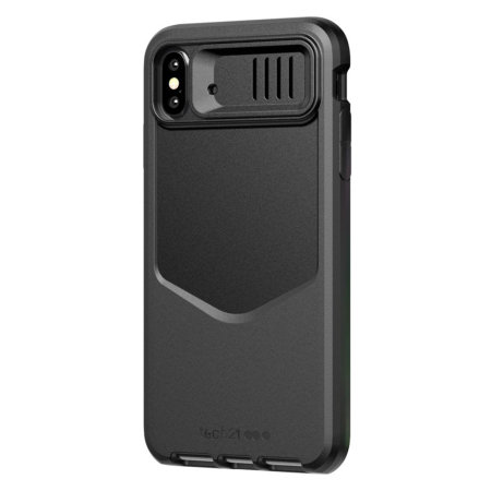 Coque iPhone XS Max Tech21 Evo Max – Cache objectif photo – Noir