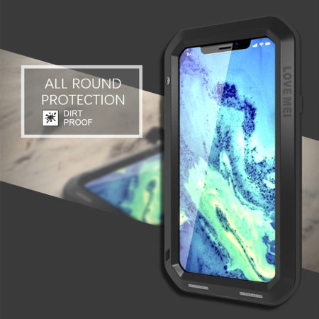 love mei powerful iphone xs protective case - black