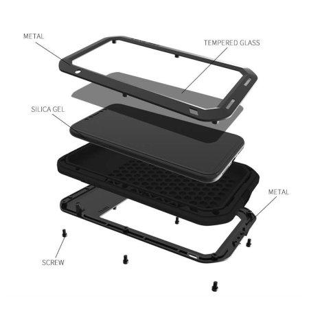 Love Mei Heavy Duty iPhone XR Protective Case - Black