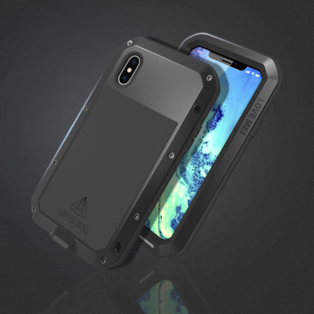 love mei powerful iphone xs max protective case - black