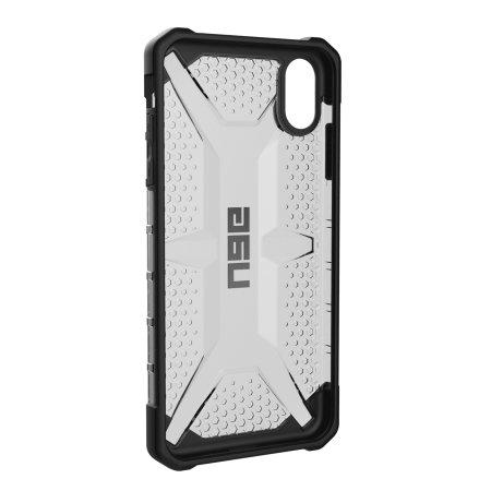 uag plasma iphone xs max protective case - ash