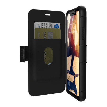 uag metropolis iphone xr rugged wallet case - black
