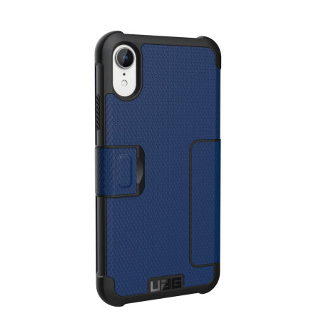 uag metropolis iphone xr rugged wallet case - cobalt