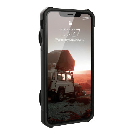uag trooper iphone xs max protective wallet case - black