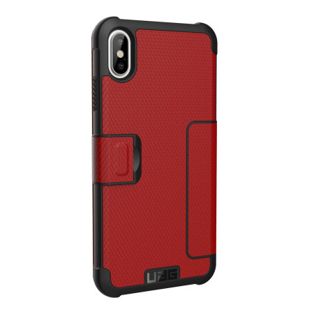 UAG Metropolis iPhone XS Max Rugged Wallet Case - Magma