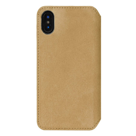 krusell broby 4 card iphone xs slim wallet case - cognac