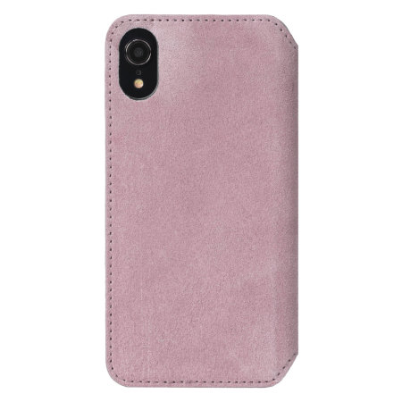 krusell broby 4 card iphone xr slim wallet case - pink