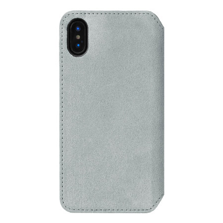 krusell broby 4 card iphone xs max slim wallet case - grey