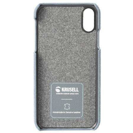 Funda iPhone XS Max Krusell Broby - Azul