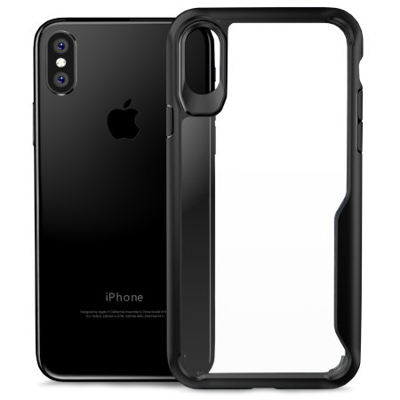 olixar novashield iphone xs bumper case - black