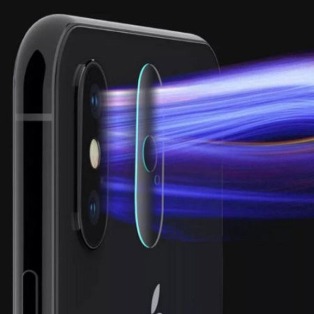 Olixar iPhone XS Max Tempered Glass Camera Protectors - Twin Pack