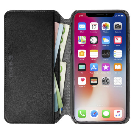 krusell pixbo 4 card iphone xs slim wallet case - black