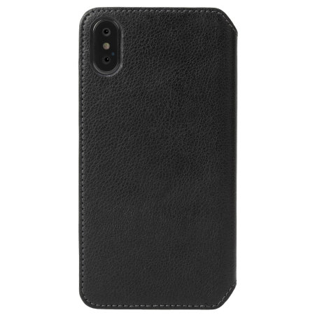 krusell pixbo 4 card iphone xs max slim wallet case - black