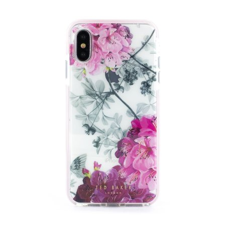 ted baker anti shock iphone xs case - babylon nickel