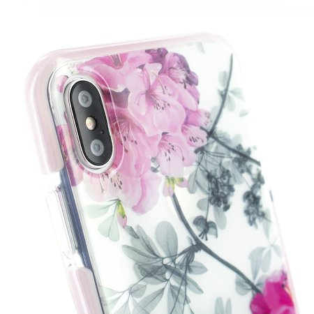 ted baker anti shock iphone xs max case - babylon nickel