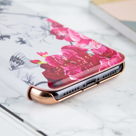 Ted Baker iPhone XR Mirror Folio Case - Babylon