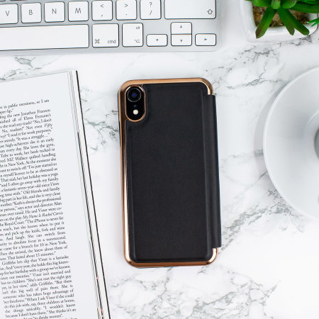 ted baker iphone xr mirror folio case - shannon black