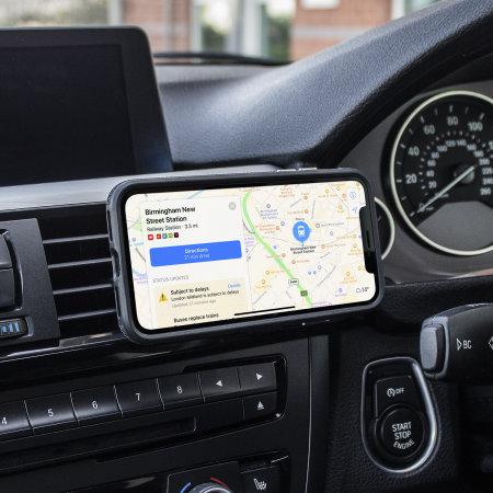 Olixar Magnus iPhone XS Max Case and Magnetic Car Holder - Black