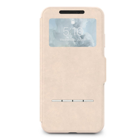 moshi sensecover iphone xs max smart case - savanna beige