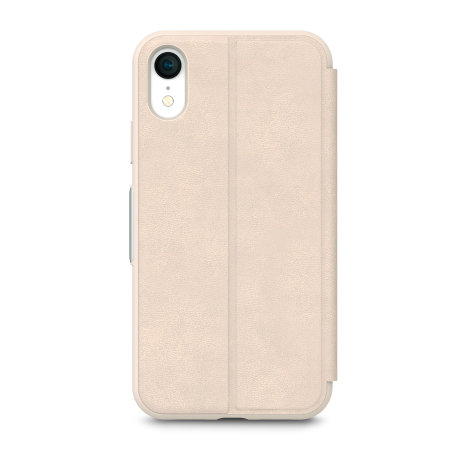 moshi sensecover iphone xr smart case - savanna beige