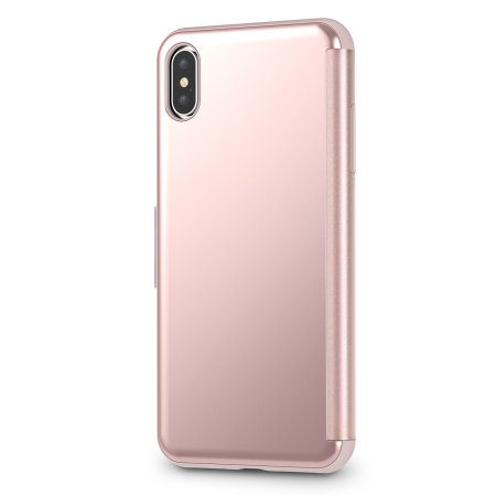 moshi stealthcover iphone xs max clear view case - champagne pink
