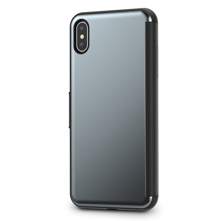 moshi stealthcover iphone xs max clear view case - gunmetal grey