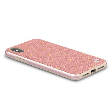 moshi vesta iphone xs max textile pattern case - macaron pink