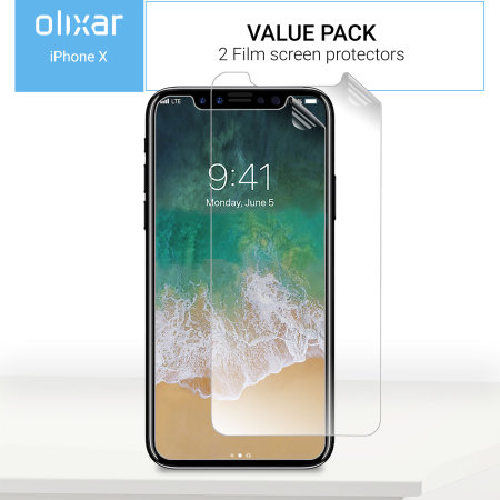 Olixar iPhone XS Film Screen Protector 2 pak