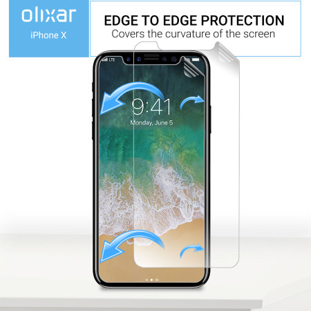 Olixar iPhone XS Screen Protector 2-in-1 Pack