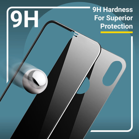 Olixar GlassTex iPhone XS/X Screen & Back Glass Protectors with Guide