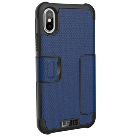 UAG Metropolis Rugged iPhone XS Wallet Case - Cobalt