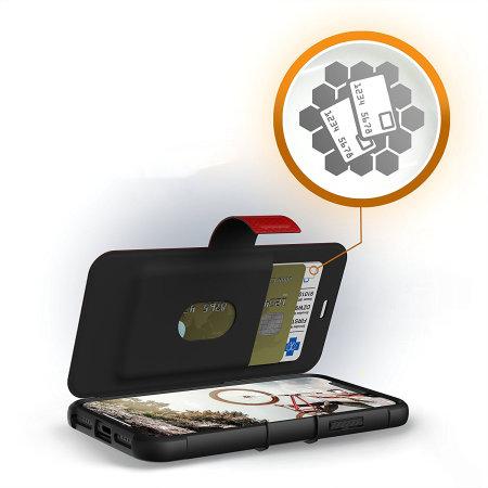 uag metropolis rugged iphone xs wallet case - magma