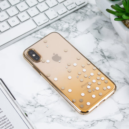 the latest 6f7f0 b23f5 Unique Polka 360 Case iPhone XS Max Case - Gold / Clear