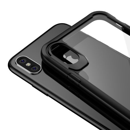 olixar novashield iphone x bumper case - black