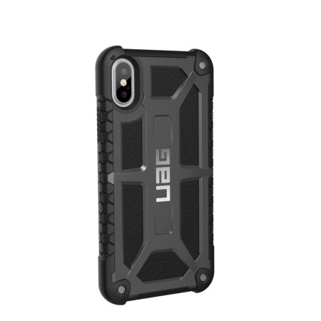 uag monarch premium iphone xs protective case - graphite