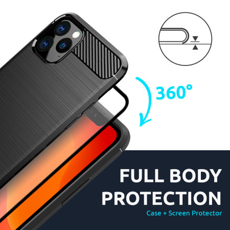 Olixar Sentinel iPhone XS Case with Glass Screen Protector - Black