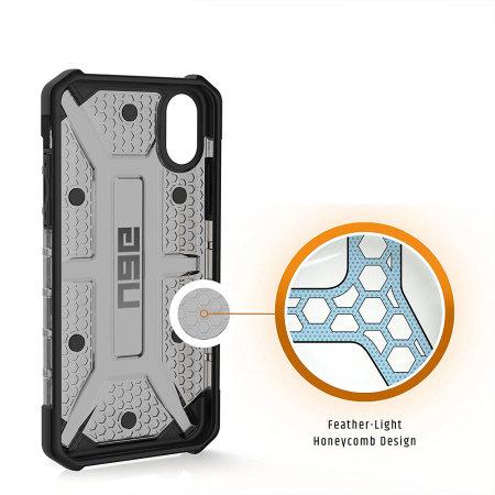 uag plasma iphone xs protective case - ash