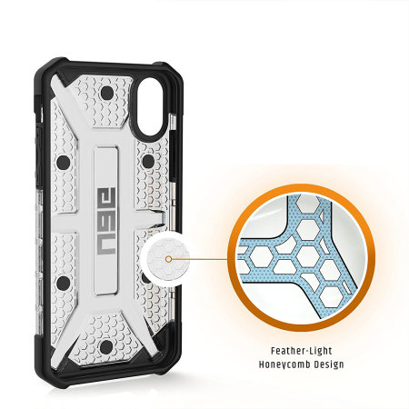 uag plasma iphone xs protective case - ice