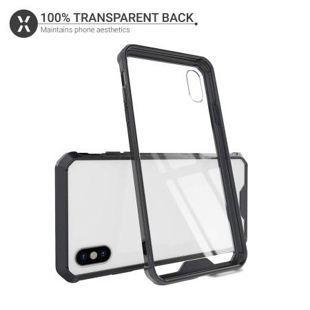 Olixar ExoShield Tough Snap-on iPhone XS Case  - Black / Clear