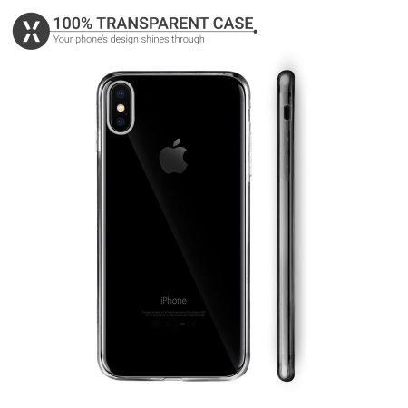 Olixar FlexiCover 360 Full Protection iPhone XS Gel Case - Clear