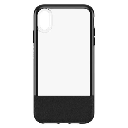 otterbox statement series iphone xs max case - black / clear