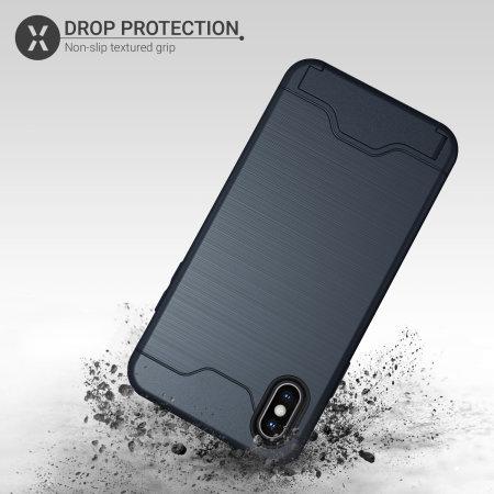 6f9fca3d86a Funda iPhone XS Olixar X-Ranger Survival - Azul Marino
