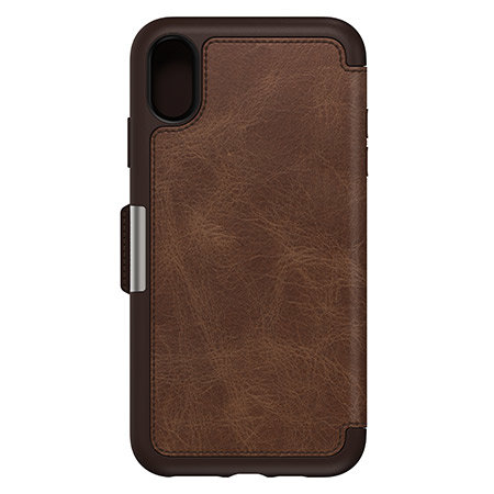 size 40 45899 dbfc8 OtterBox Strada Folio iPhone XR Leather Wallet Case - Espresso