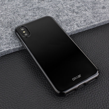 olixar flexishield iphone xs gel case - jet black