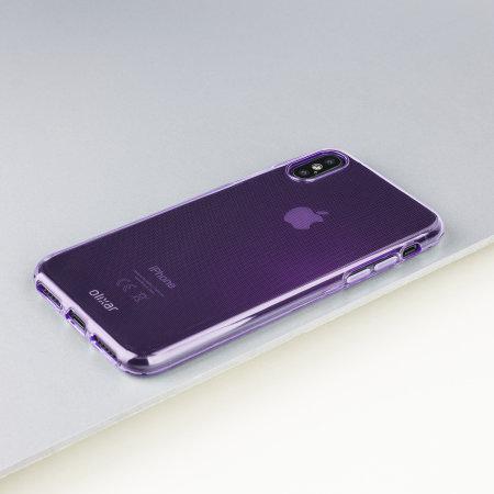 olixar flexishield iphone xs gel case - purple
