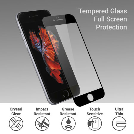 Olixar iPhone 6S / 6 Edge To Edge Tempered Glass Screen Protector
