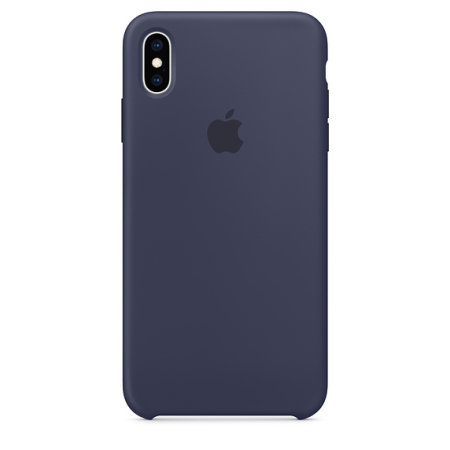official apple iphone xs max silicone case - midnight blue