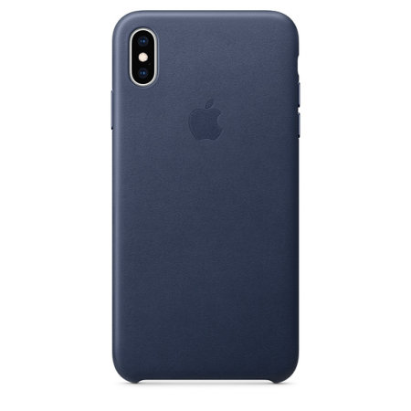 official apple iphone xs max leather case - midnight blue
